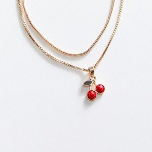 Urban Outfitters Cherry Pendant Necklace